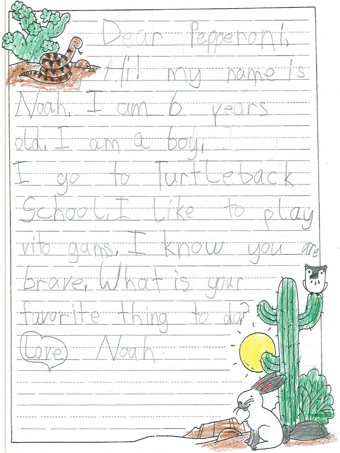 Pen Pal Letter Example.Examples Of Pet Pen Pal Letters Helen Woodward Animal Center
