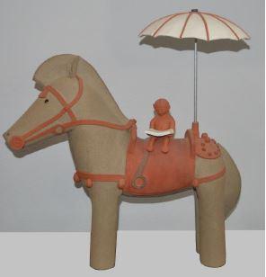 Ceramic Standing Horse