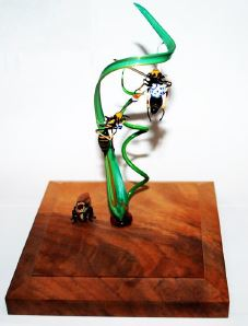 Glass Sculpture with Wasps