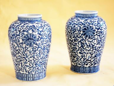 Chinese porcelain vases - Republic Period